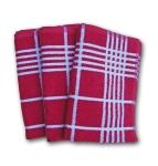 6. Ross Küchen-Frottiertuch großes Karo 3er Pack Rot