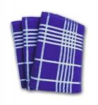 7. Ross Küchen-Frottiertuch großes Karo 3er Pack Blau