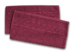 7. Ross Relief Handtuch - Bordeaux -2er