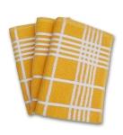 8. Ross Küchen-Frottiertuch großes Karo 3er Pack Gelb