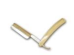 "Giesen & Forsthoff Rasiermesser helles Horn  6/8"", ""De Luxe"""